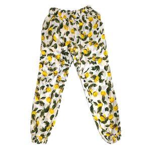 Solitaire Swim Lemon Print Cover-Up Pants sz S